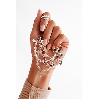 Bracelet d'empilement safe travels - 16cm + prolongateur 2cm - Brun - Bijoux cadeaux pour femmes de Lu Bella