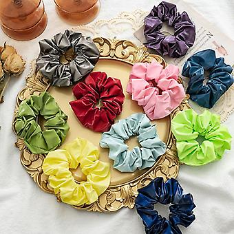 10Pcs women's hair band color water-repellent cloth elastic hair string