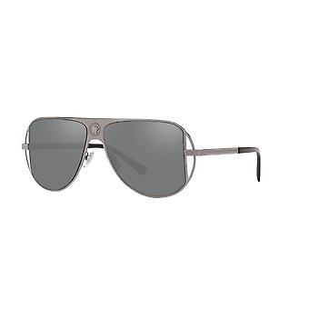 Versace VE2212 10016G Gunmetal/Grå Spejl Sølv solbriller