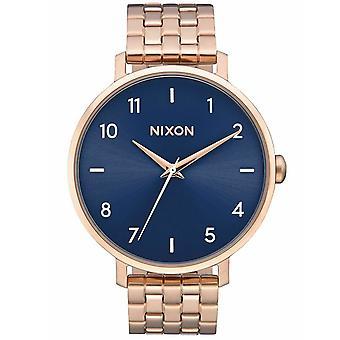 Nixon Flecha de las mujeres reloj de esfera azul - A1090-2953