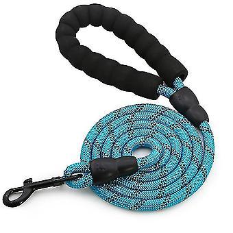 L correa azul para mascotas, nylon reflectante escalada en roca de cuerda redonda correa de perro, correa de perro az4997