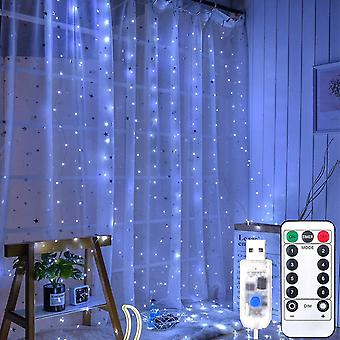 Window curtain fairy string lights 300 led usb powered dt4454