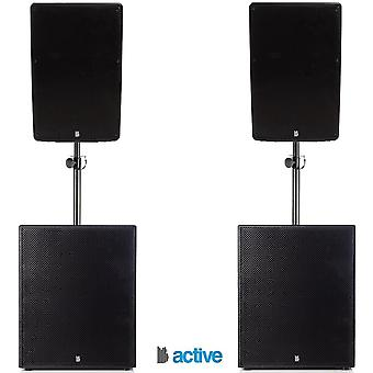 """Big gig rig 21 - active 2800w rms 15"""" tops with 18"""" subwoofer pa system with bluetooth"""