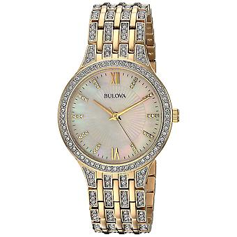 Bulova Crystal Two-Tone Ladies Watch 98L234
