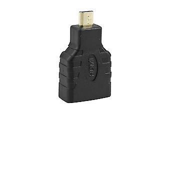 Hdmi-kompatibler Buchse-Zu-Mikro-Hdmi-Konverter-Adapter-Anschluss