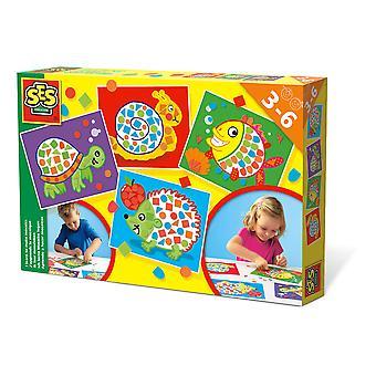 SES Creative - Barns jag lär mig att göra mosaik set 3-6 år (flerfärg)