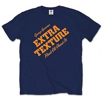 George Harrison Extra Texture Mens Navy T Shirt: Medium