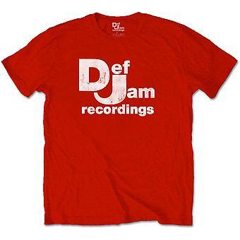 Def Jam Optagelser Classic Logo Hvid Officielle Tee T-Shirt Unisex