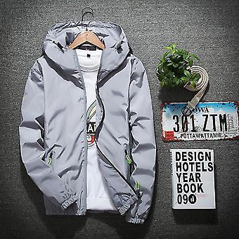 Xl grey sports casual windbreaker jacket trend men's sports outdoor jacket fa0166