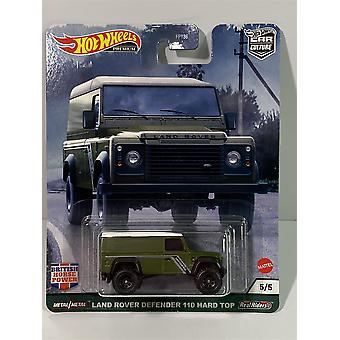 Land Rover Defender 110 British Horse Power 1:64 Hot Wheels Real Riders GRJ63