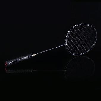 Strung Badminton Racket, Carbon Badminton Racket