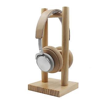 الخيزران الخشب حامل سماعة الرأس سطح المكتب حامل