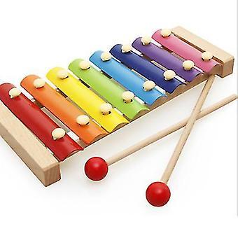 8-Note Bunte Aluminiumplatte Percussion Frühe Bildung Musikalisches Spielzeug für Kleinkinder Baby (1 #)
