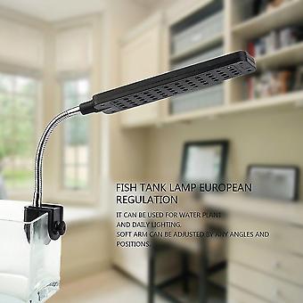 48 led aquarium vis plant 2 mode clip wit en blauw gloeilamp lamp instelbaar