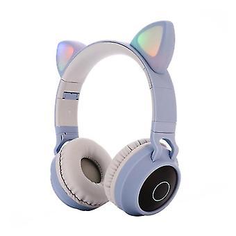 Cat Ear Bluetooth Headphones Wireless Headsets Foldable Glowing