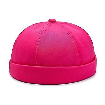 Beanie Bărbați & Femei Retro Brimless reglabil Craniu Cap, Hip Hop Hat (Hot Pink)
