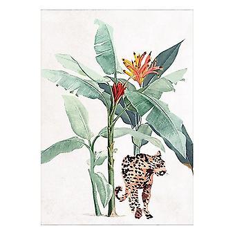 Maalaus Leopardi (125 x 85 x 4 cm)