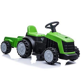 Tractor vehicul electric cu remorcă – Verde