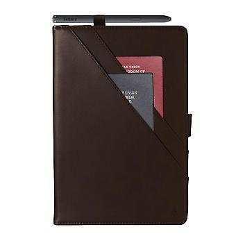Case For Ipad 9 10.2 2021 Genuine Quality Leather Stand Cover With Multiple Viewing Angles Wake/sleep Enabled - Brown