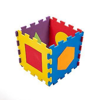 Matrax Eva Puzzle Play Mat, Geometric Shapes, 33 x 33 cm x 7 mm, 9 Pieces, BPA Free, Safe,  Educational