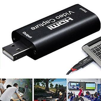HDMI para USB 2.0Video Capture Card 1080P HD Game/Video Streaming Live Streaming Potable USB