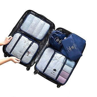 Set of organizing bags, 6 pieces-dark blue