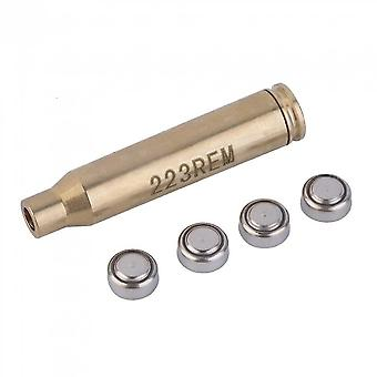 New 223rem Brass Red Laser Bore Laser Sight Boresight For Hunting Scope Tool