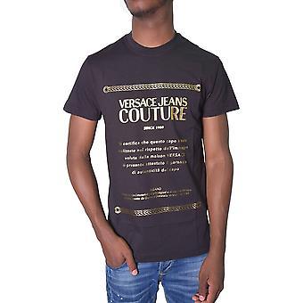 Versace Jeans Couture Printed Script Logo Black/gold T-shirt