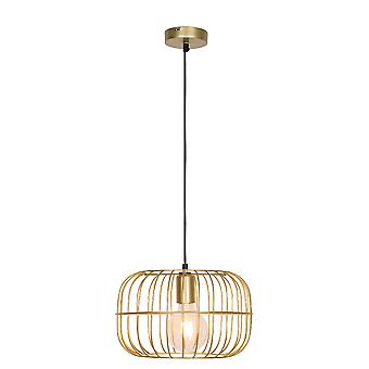 Lámpara de suspensión Zenith, color acero dorado, L30xD30xA110 cm
