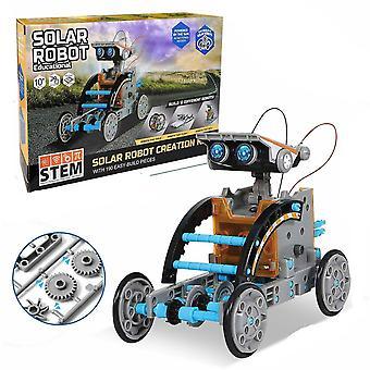 ソーラーパワーエンジンとギアを搭載したディスカバリーソーラーロボットキット
