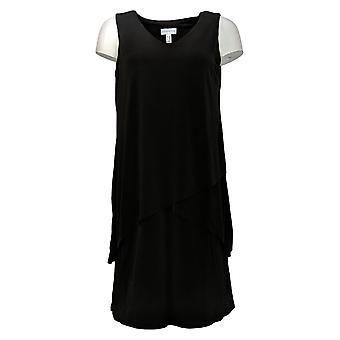 سوزان غريفر بيتيت فستان سائل متماسكة بدون أكمام فستان متدرج A377871