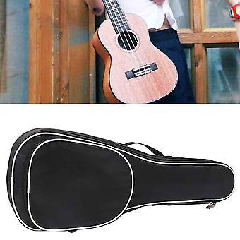 Adjustable- Padded Zipper Pockets, Black Strap, Ukulele Bag