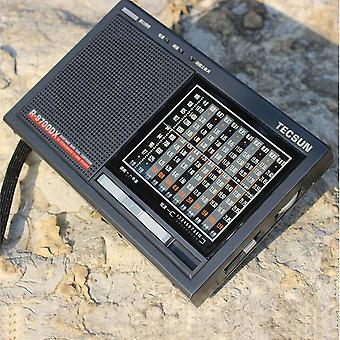 Récepteur radio à bande mondiale haute sensibilité avec haut-parleur Livraison gratuite