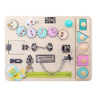 לוח עץ גן למידה בלוקים צעצוע חינוכי חושי לוח לפיתוח צעצוע 
