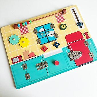 Niños Ocupados Tablero Diy Juguetes Habilidad Motora Bloqueo Bloqueo Cognición Juegos de Juguete Piezas Accesorios de Tablero 