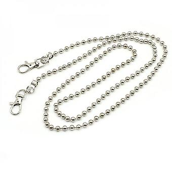 Diy Beads Chain Strap Handbag Chains Accessories Purse Shoulder Crossbody Replacement Straps With Metal Buckles