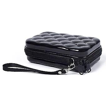 Cosmetic toiletry bags black portable mini storage bag  waterproof accessory bag  cosmetic bag 17.5Cm*10.5Cm*7cm