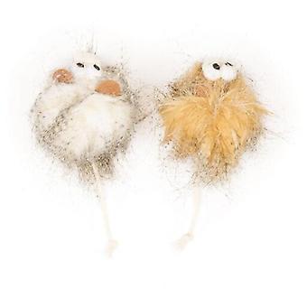 Duvo+ Toy Cat Hairball Marron 7 X 14 Cm (Cats , Toys , Mice)