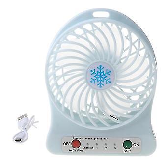 Draagbare led licht mini ventilator luchtkoeler mini bureau usb ventilator derde wind usb ventilator oplaadbare abs