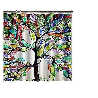 Cortina de ducha Color Árboles 180x180 cm
