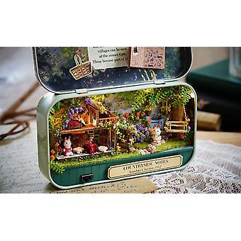 Dollhouse Miniature Diy Kit s nábytkem Mini Box Divadelní umělecký dárek