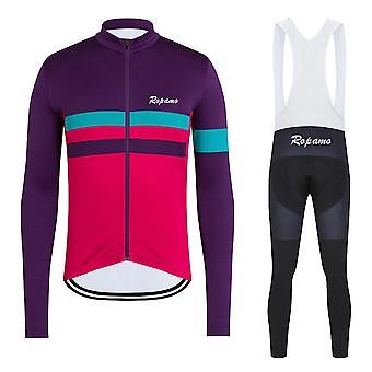 Hommes Pro Team Manches Longues Cyclisme Jersey Set Bib Pantalon Ropa Ciclismo Vélo Vêtements VTT Vélo Jersey Uniforme Hommes Vêtements