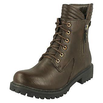 Kære plet på militær stil ankel støvler F50325