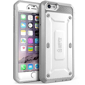 """SUPCASE Apple iPhone 6 4.7 """"asia - yksisarvinen Beetle Pro sarja suojus sisäänrakennettu näyttö - valkoinen/harmaa"""
