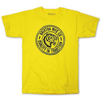 Brixton Cambridge T-Shirt Yellow
