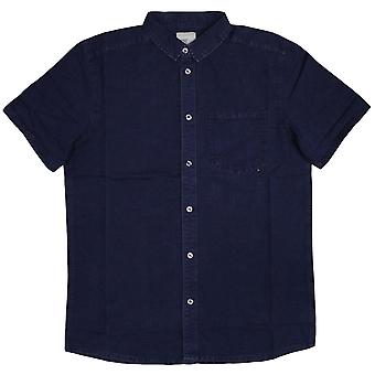 WeSC Eric comfort fit short sleeve shirt Dark Indigo