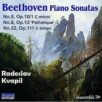 Radoslav Kvapil - Beethoven: Piano Sonatas No. 5 Op.10/1 [CD] USA import