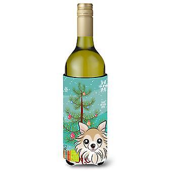 Kerstboom en Chihuahua wijnfles drank isolator Hugger