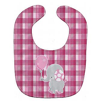 Carolines Treasures  BB6948BIB Elephant with Pink Balloon Baby Bib