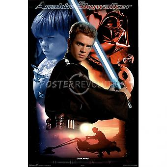 Star Wars Anakin Skywalker Poster Poster Print by